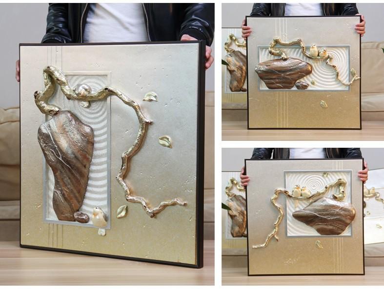 Tranh phù điêu 3D nổi bonsai phát lộc